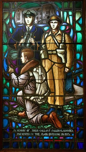 Uniforms of the Canadian Armed Forces - Memorial Stained Glass window, Class of 1933, Royal Military College of Canada