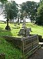 Memorial cross in Holmfirth cemetery, Cemetery Road, Cartworth (Holmfirth) - geograph.org.uk - 932274.jpg
