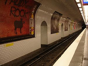 Paris Métro Line 8 - Central abutment of the Grands Boulevards station