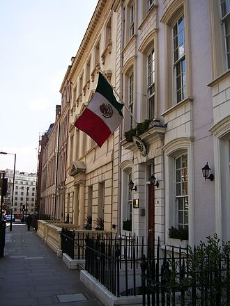 Mexicans in the United Kingdom - The Mexican Embassy in Mayfair, London.