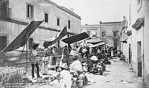 Tianguis - Tianguis in Mexico City in 1885