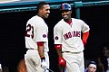 Michael Brantley and Francisco Lindor (19014335176).jpg