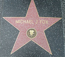 Michael J Fox Walk of fame.jpg