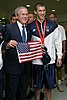 Michael Phelps with President Bush - 20080811.jpeg
