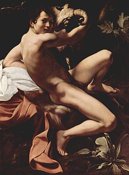 Michelangelo Merisi da Caravaggio, Saint John the Baptist (Youth with a Ram) (c. 1602, Yorck Project).jpg