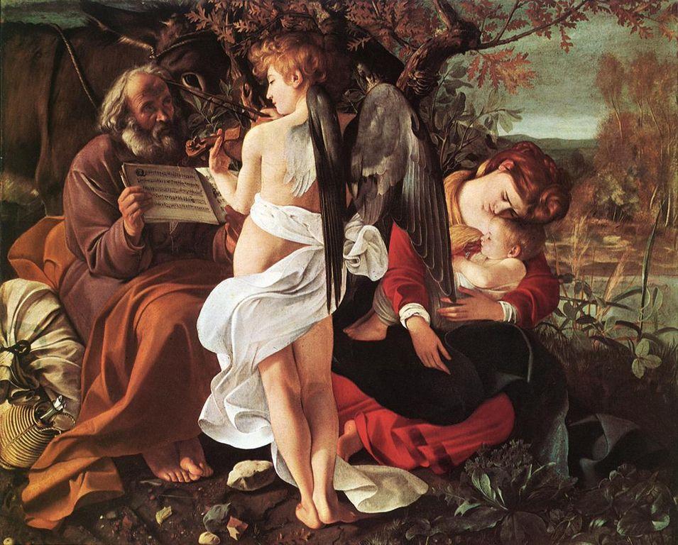Le Repos pendant la fuite en Égypte (1596) à la Galeria Doria Pamphilj à Rome.