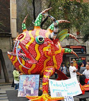 Alebrije - Alebrije named Michin Rojo with salute to Pedro Linares