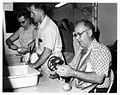 Michiana Mennonite Relief Sale- Making Apple Fritters,1973 (14814754788).jpg