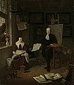 Michiel Comans (gest 1687). Kalligraaf, etser, schilder en schoolmeester, met zijn derde vrouw Elisabeth van der Mersche Rijksmuseum SK-A-4135.jpeg