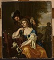 Michiel van Musscher - Young lady and a man at a table - M.Ob.189 MNW - National Museum in Warsaw.jpg