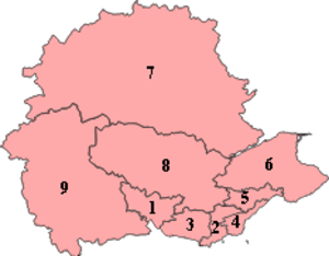 Mid Scotland and Fife (Scottish Parliament electoral region) - Image: Mid Scotland and Fife Scottish Parliament Region Numbered 2011
