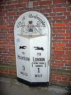 Milestone, Knightsbridge, London - geograph.org.uk - 1590514.jpg