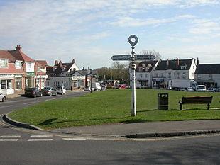 Milford-on-Sea, village green