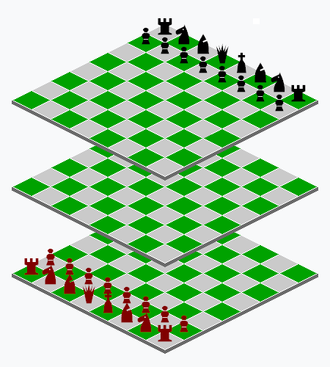 Millennium 3D Chess - 3D rendering of starting position