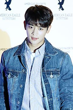 Minho at American Eagle Outfitters launching event in October 2015 01.jpg