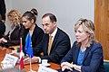 Ministru prezidents V.Dombrovskis tiekas ar Eiropas Parlamenta Rūpniecības, pētniecības un enerģētikas komitejas deputātiem un Eiropas Elektronisko sakaru regulatoru iestādes (BEREC) vadību (7886168600).jpg