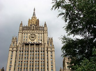 Stalinist architecture - The Ministry of Foreign Affairs of Russia main building, Moscow.