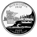 Minnesota quarter, reverse side, 2005.jpg