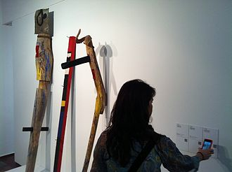 Joan Miró: The Ladder of Escape - His Majesty the King, Her Majesty the Queen and His Highness the Prince: three sculptures that were in the exhibition