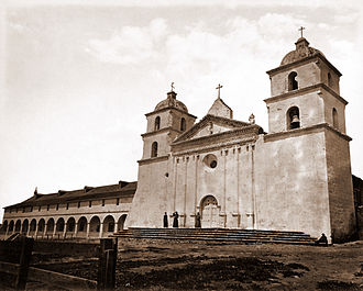 Andrew Jackson King - Santa Barbara Mission in 1876