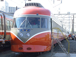 Odakyu 3000 series SE - Preserved Odakyu 3000 series SE at Ebina depot (October 2007)
