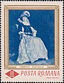 Model costumat by Ion Andreescu 1967 Romanian stamp.jpg