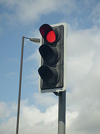 A modern British LED Traffic Light (Siemens He...