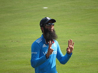 Moeen Ali - Moeen Ali playing for England in 2014
