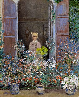 Monet - camille-monet-at-the-window-argentuile