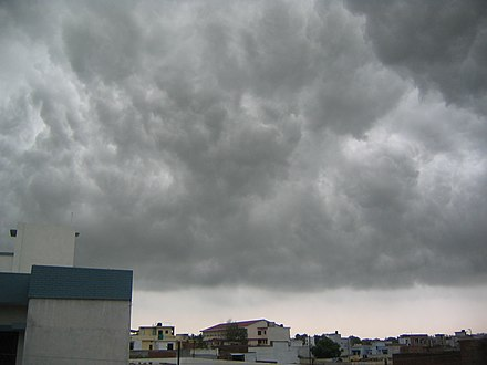 Monsoon clouds over Lucknow, Uttar Pradesh Monsoon clouds Lucknow.JPG
