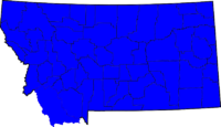 Montana Senatorial Election Results by county, 2008.png