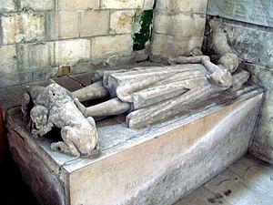 Montdidier, Somme - Empty tomb of Raoul de Crépy.