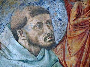 Convento San Fortunato, Fresco Franz v. Assisi