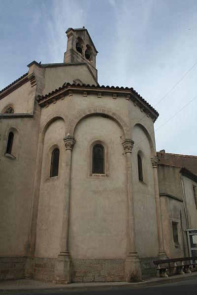 Montredon-des-Corbières - chevet de l'église Saint-Martin