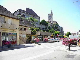 The centre of Morestel