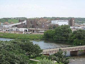 English: John Morrell meat packing plant in Si...