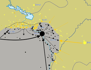 Mosul offensive (2016) - Map of the 2015 offensive's outcome.