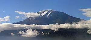 English: A panorama of Mount Kilimanjaro. Pict...