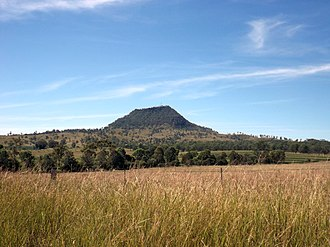 Mount Walker, Queensland - Mount Walker viewed from Rosewood Warrill View Road, 2015