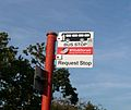 Mudeford Brook Way bus stop flag.JPG