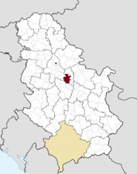 Location of the municipality of Smederevska Palanka within Serbia