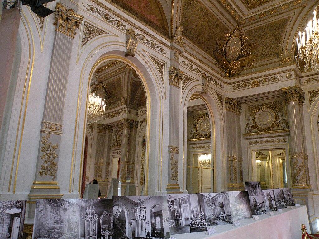 File mur salon napoleon iii elysee jpg wikimedia commons for Salon egyptien