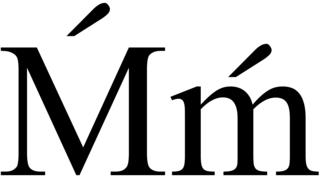 Ḿ letter of the Latin alphabet