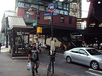 Myrtle Avenue (BMT Jamaica Line) - Image: Myrtle Avenue geometry 2 vc