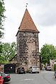 Nürnberg, Stadtmauer, Mauerturm Schwarzes E, 001.jpg