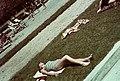 Nő a Honvéd üdülő strandján, 1940-ben. Fortepan 12339.jpg