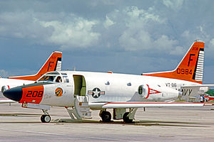 Naval Air Station Glynco - T-39D Sabreliner trainer, BuNo 150984, of VT-86 at NAS Pensacola in 1975, shortly after arriving from NAS Glynco
