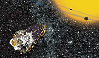 Extraterrestrial life - Artist's impression of the Kepler telescope in space.