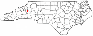 Joara - Location of Joara in present-day Burke County, North Carolina