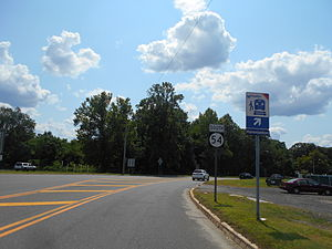 New Jersey Route 54 - Route 54 southbound from US 30 and US 206 in Hammonton